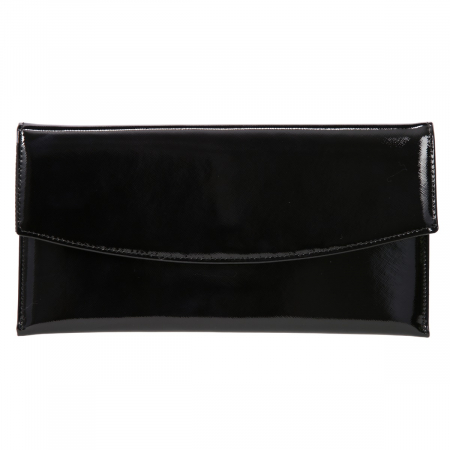 Plic elegant negru din piele saffiano lac [1]