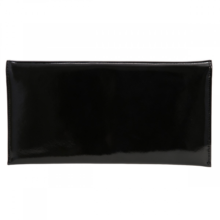 Plic elegant negru din piele saffiano lac [2]