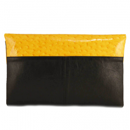 Plic elegant negru/galben din piele naturala [1]