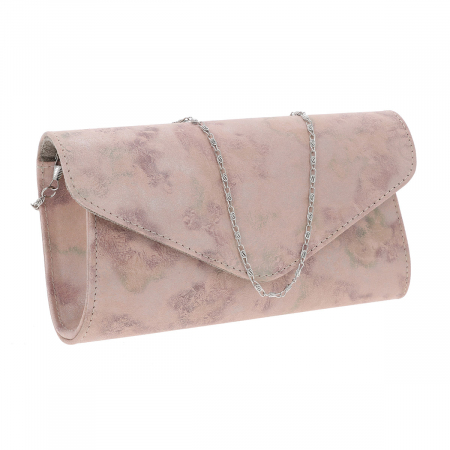 Plic elegant roz pudra abstract din piele intoarsa, model 08 [0]