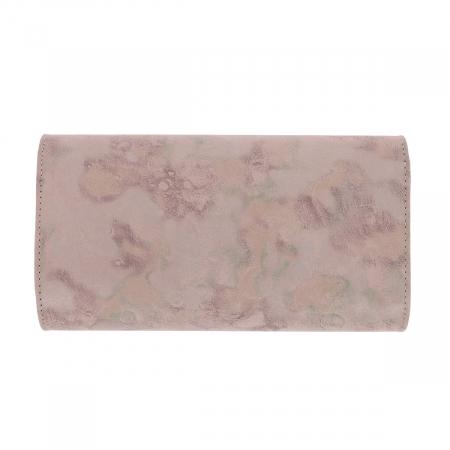 Plic elegant roz pudra abstract din piele intoarsa, model 08 [2]