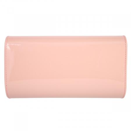Plic elegant roz pudra din piele lacuita, model 08 [2]