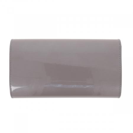 Plic gri din piele lacuita, model 07 [2]