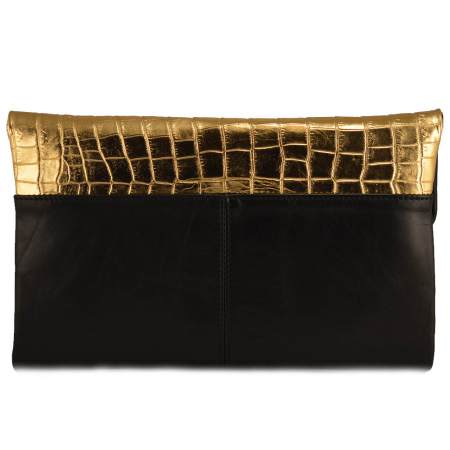 Plic negru+auriu piele croco mare [1]