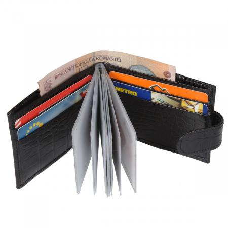 Port carduri din piele croco negru 114 [1]