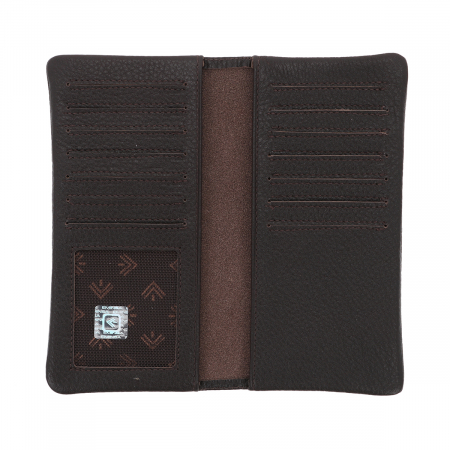 Port carduri din piele naturala moale, maro, model Eminsa 1119 [2]