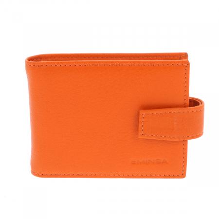 Port carduri din piele naturala portocaliu, model 1517 [0]