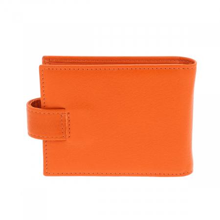 Port carduri din piele naturala portocaliu, model 1517 [1]