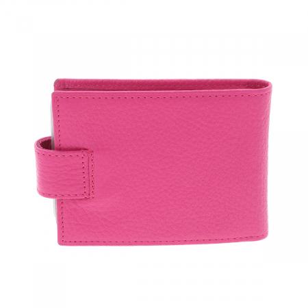 Port carduri din piele naturala roz, model 1517 [1]