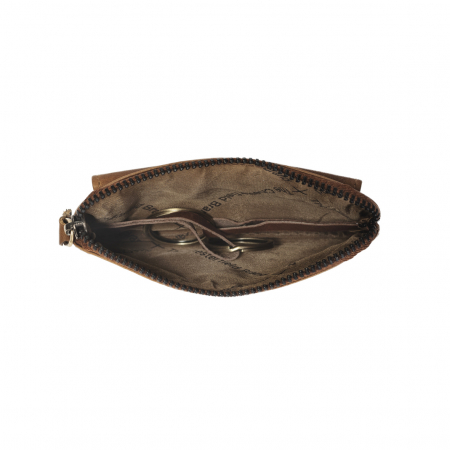 Port chei din piele naturala, The Chesterfield Brand, Oliver, cu protectie anti scanare RFID, Maro coniac [4]