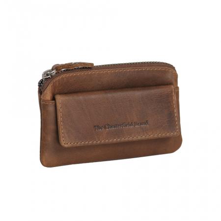 Port chei din piele naturala, The Chesterfield Brand, Oliver, cu protectie anti scanare RFID, Maro coniac [0]