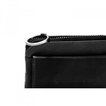 Port chei din piele naturala, The Chesterfield Brand, Oliver, cu protectie anti scanare RFID, Negru [2]