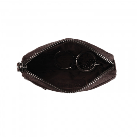 Port chei The Chesterfield Brand, cu protectie anti scanare RFID, din piele moale, Corey, Maro inchis [1]