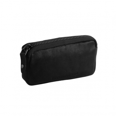 Port chei The Chesterfield Brand, cu protectie anti scanare RFID, din piele moale neagra, Corey0