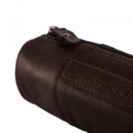 Port stilou, The Chesterfield Brand, din piele naturala, Lea, Maro inchis [3]