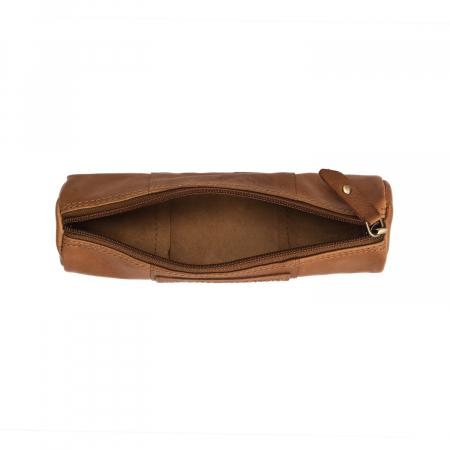 Port stilou, The Chesterfield Brand, din piele naturala maro coniac, Lea [1]