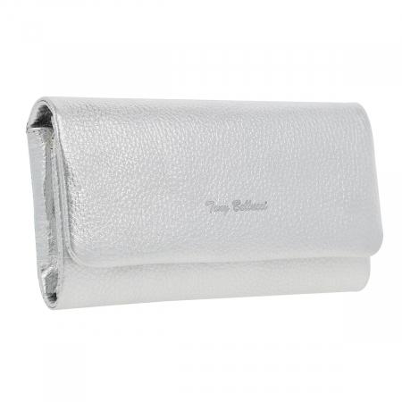 Portofel argintiu din piele naturala moale, Tony Bellucci model 888 [0]