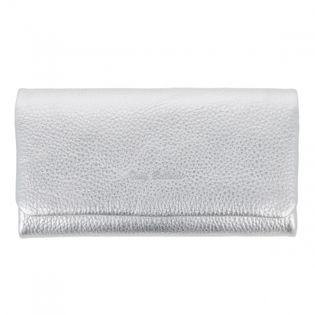 Portofel argintiu din piele naturala moale, Tony Bellucci model 888 [1]