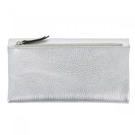 Portofel argintiu din piele naturala moale, Tony Bellucci model 888 [3]
