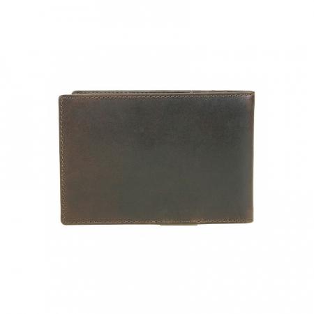Portofel barbati din piele naturala, Bugatti, Romano, cu protectie anti scanare RFID, Maro inchis [1]