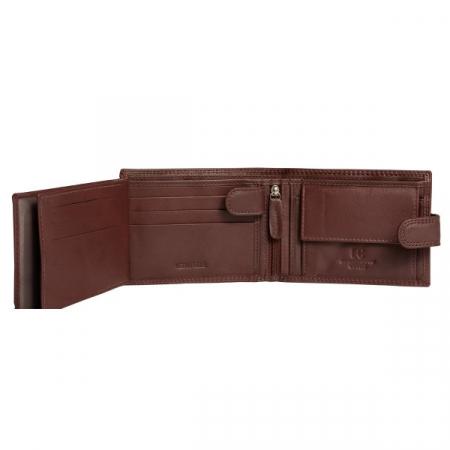 Portofel barbati din piele naturala, Coveri, model 260, Maro brun [3]
