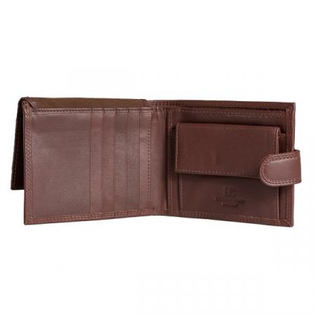 Portofel barbati din piele naturala, Coveri, model 298, Maro brun [3]