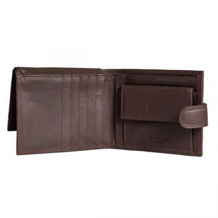 Portofel barbati din piele naturala, Coveri, model 298, Maro brun [2]