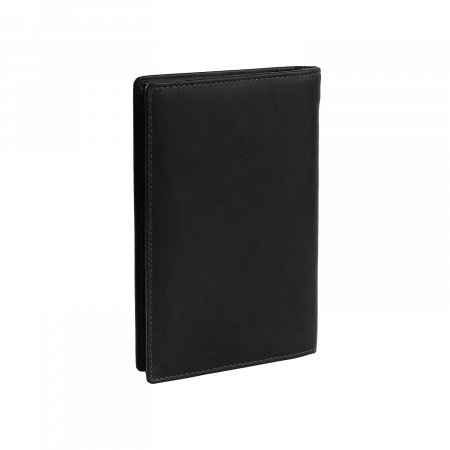 Portofel barbati din piele naturala, The Chesterfield Brand, Daan, cu protectie anti scanare RFID, Negru [1]