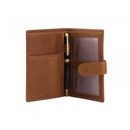 Portofel barbati din piele naturala, The Chesterfield Brand, Drake, cu protectie anti scanare RFID, Maro coniac [2]