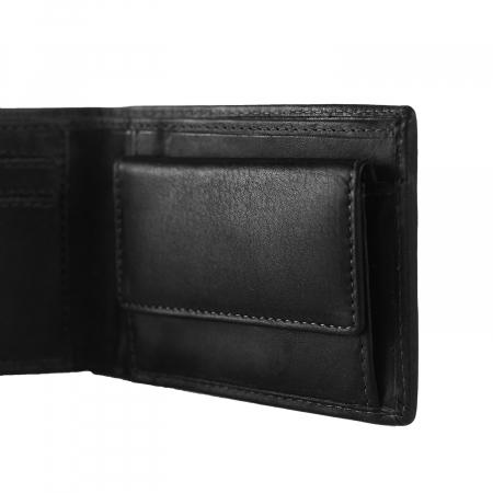 Portofel barbati din piele naturala, The Chesterfield Brand, Enzo, cu protectie anti scanare RFID, Negru [2]