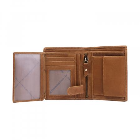 Portofel barbati din piele naturala, The Chesterfield Brand, Ethel, cu protectie anti scanare RFID, Maro coniac [3]
