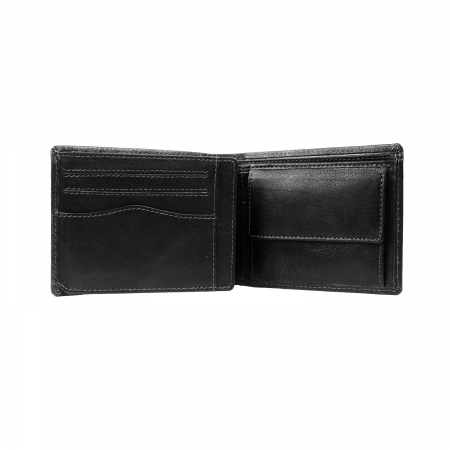 Portofel barbati din piele naturala, The Chesterfield Brand, Harlem, cu protectie anti scanare RFID, Negru [3]