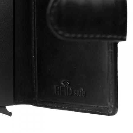 Portofel unisex cu suport pentru carduri, din piele naturala, The Chesterfield Brand, Loughton, cu protectie anti scanare RFID, Negru [3]