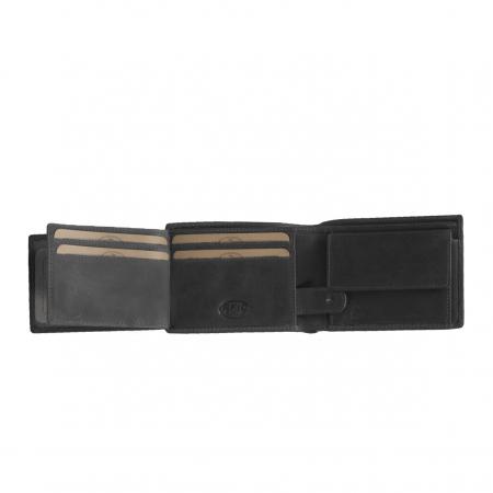 Portofel barbati din piele naturala, The Chesterfield Brand, Marvin, cu protectie anti scanare RFID, Negru [4]