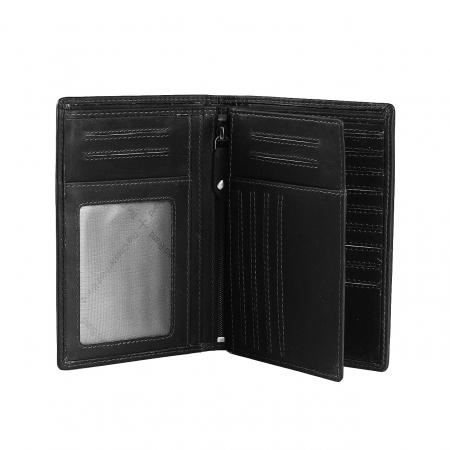Portofel barbati din piele naturala, The Chesterfield Brand, Owen, cu protectie anti scanare RFID, Negru [2]
