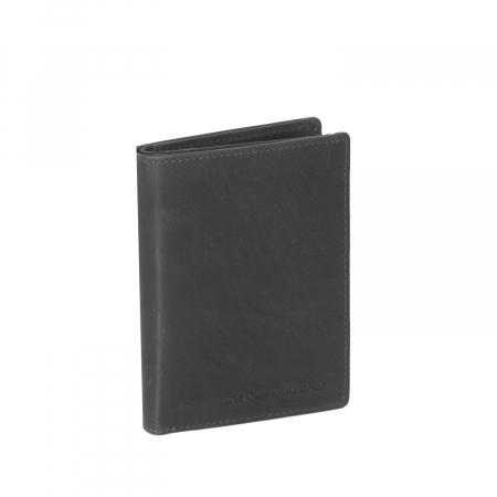 Portofel barbati din piele naturala, The Chesterfield Brand, Siem, cu protectie anti scanare RFID, Negru [0]