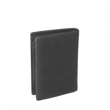 Portofel barbati din piele naturala, The Chesterfield Brand, Siem, cu protectie anti scanare RFID, Negru [1]