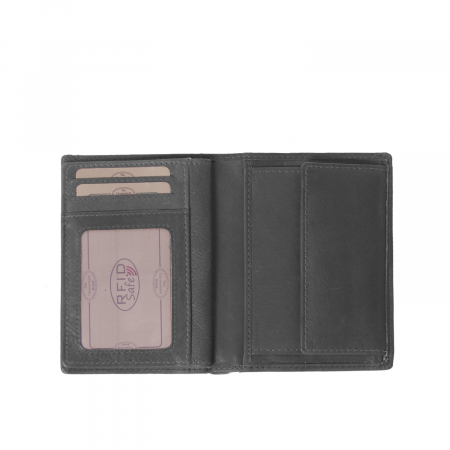 Portofel barbati din piele naturala, The Chesterfield Brand, Siem, cu protectie anti scanare RFID, Negru [2]