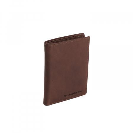 Portofel barbati din piele naturala, The Chesterfield Brand, Tymon, cu protectie anti scanare RFID, Maro inchis [0]