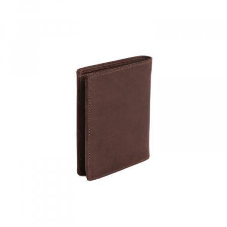 Portofel barbati din piele naturala, The Chesterfield Brand, Tymon, cu protectie anti scanare RFID, Maro inchis [1]