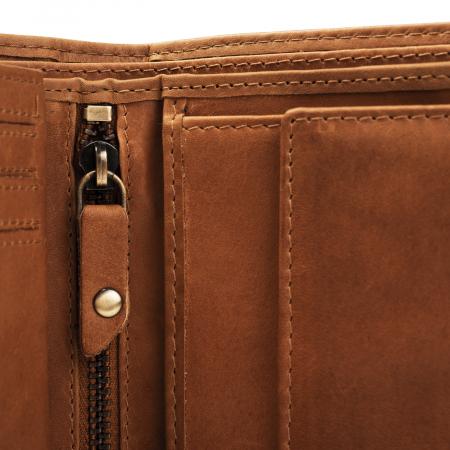 Portofel barbati, The Chesterfield Brand, cu protectie anti scanare RFID, din piele naturala, Ruby, Maro coniac [2]