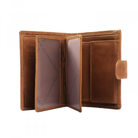 Portofel barbati, The Chesterfield Brand, cu protectie anti scanare RFID, din piele naturala, Ruby, Maro coniac [1]