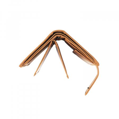 Portofel barbati, The Chesterfield Brand, cu protectie anti scanare RFID, din piele naturala, Ruby, Maro coniac [3]