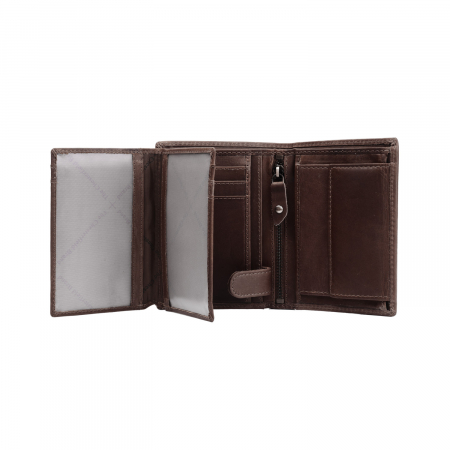 Portofel barbati, The Chesterfield Brand, cu protectie anti scanare RFID, din piele naturala, Hazel, Maro inchis [1]