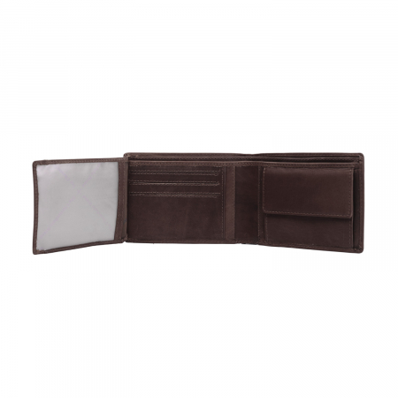 Portofel barbati, The Chesterfield Brand, cu protectie anti scanare RFID, din piele naturala, Timo, Maro inchis [2]