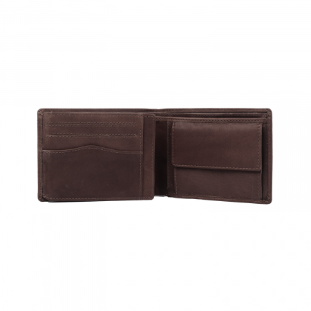 Portofel barbati, The Chesterfield Brand, cu protectie anti scanare RFID, din piele naturala, Timo, Maro inchis [3]