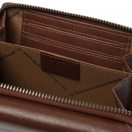 Portofel dama din piele naturala, The Chesterfield Brand, Hagen, cu protectie anti scanare RFID, Maro coniac [3]