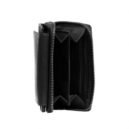 Portofel dama din piele naturala, The Chesterfield Brand, Hanoi, cu protectie anti scanare RFID, Negru [4]
