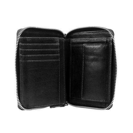 Portofel dama din piele naturala, The Chesterfield Brand, Helmond, cu protectie anti scanare RFID, Negru [3]
