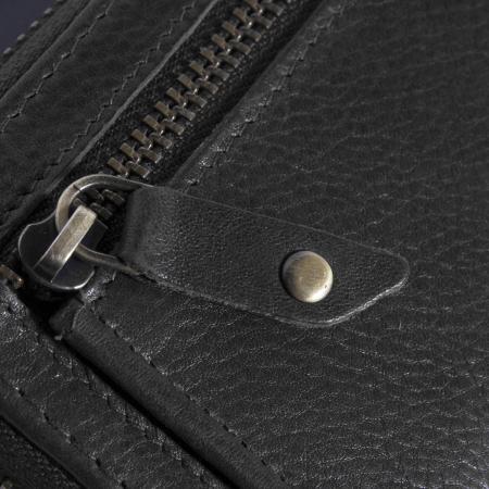 Port carduri din piele naturala, The Chesterfield Brand, cu protectie anti scanare RFID, Jim, Negru [3]